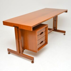 vintage retro walnut desk