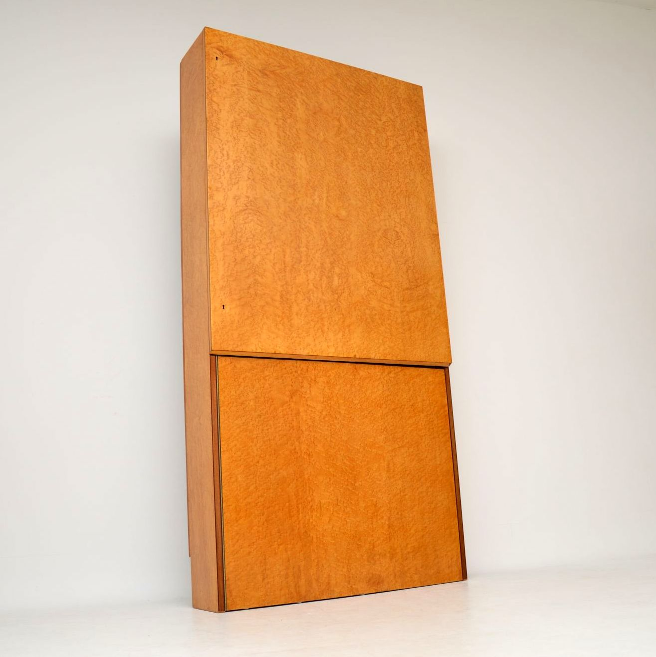 art deco burr maple drinks cabinet bar