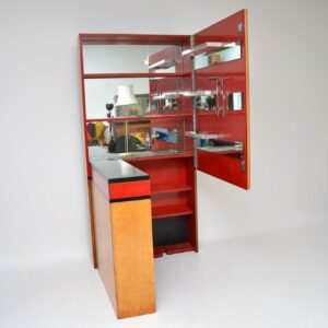 art deco burr maple drinks cabinet bar
