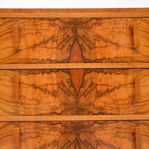 1920's Art Deco Burr Walnut Chest of Drawers