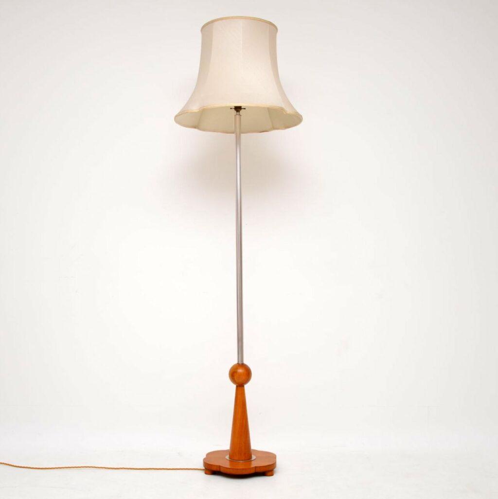 art deco period vintage antique floor lamp