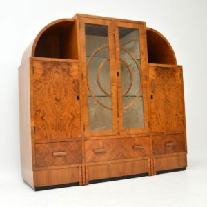 1920's Art Deco Burr Walnut Cabinet