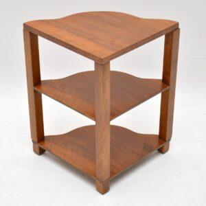 art deco walnut nesting vintage coffee table