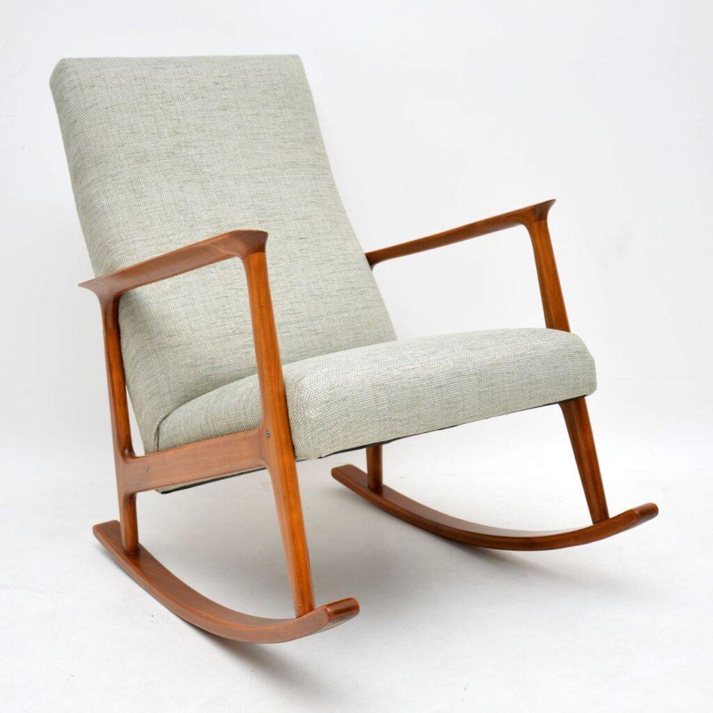 danish retro vintage rocking chair armchair