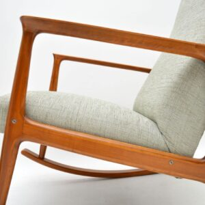 danish retro vintage rocking chair armchair