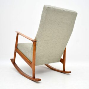 1960's Danish Cherry Wood Vintage Rocking chair