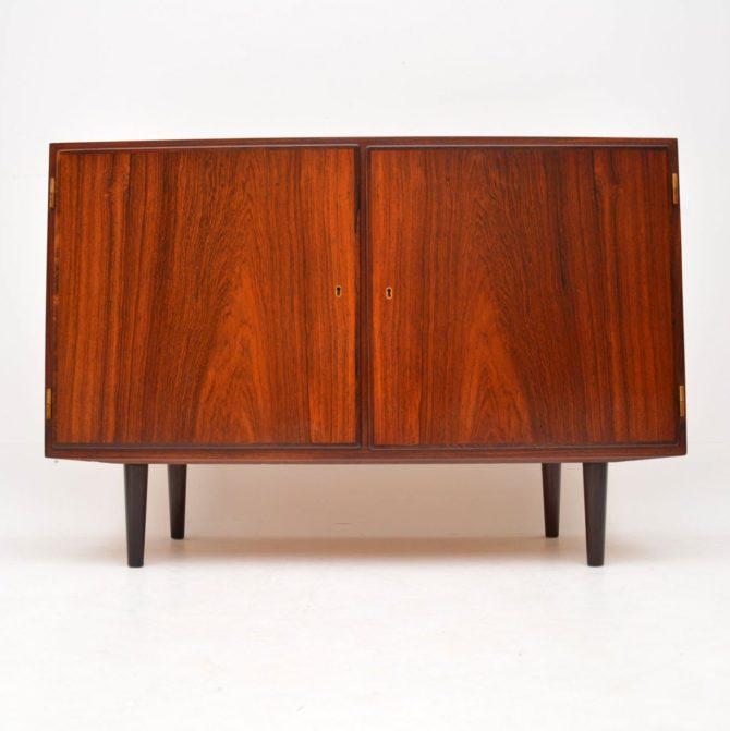 danish rosewood retro vintage sideboard cabinet poul hundevad
