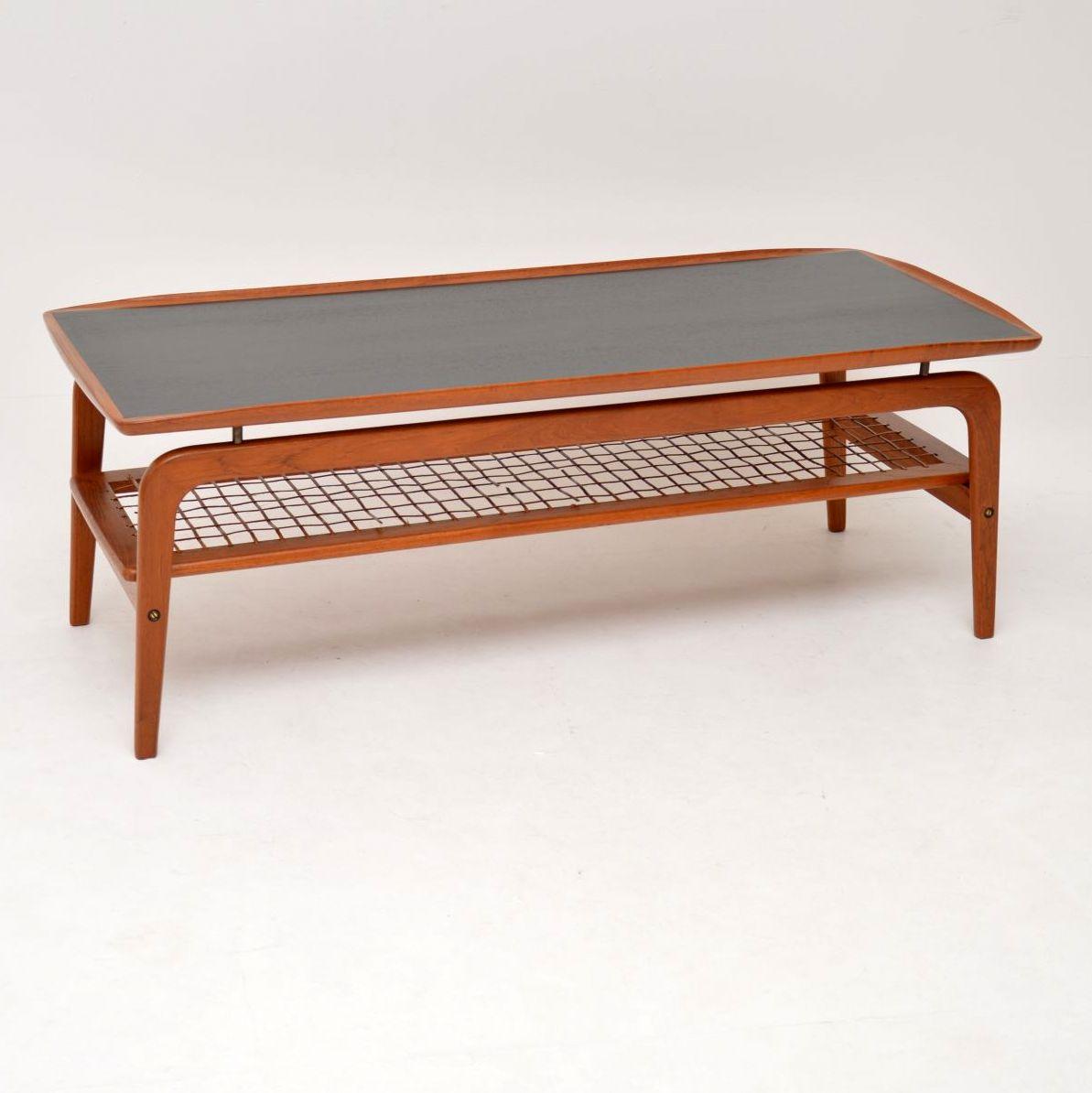 danish retro vintage teak coffee table arne hovmand olsen