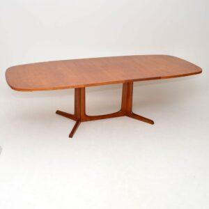 1960's Danish Teak Vintage Extending Dining Table