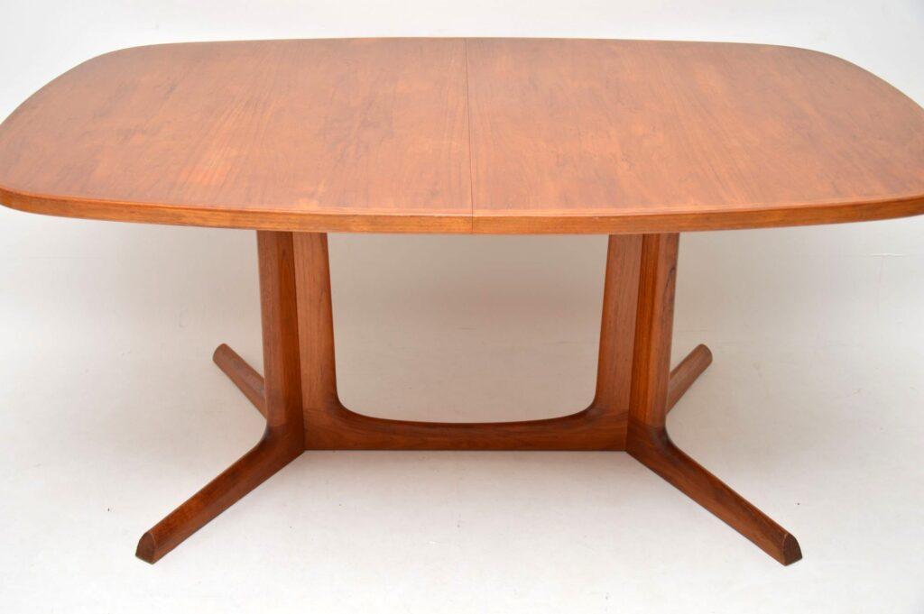 danish teak retro vintage dining table
