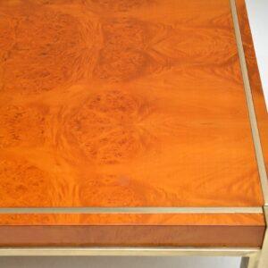 retro vintage italian walnut brass coffee table zevi