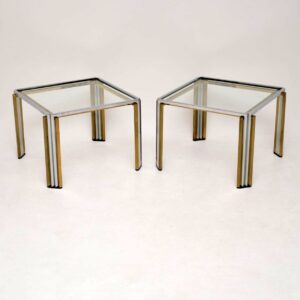 pair of retro vintage italian side tables romeo rega