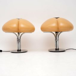 pair of retro vintage italian lamps by harvey guzzini