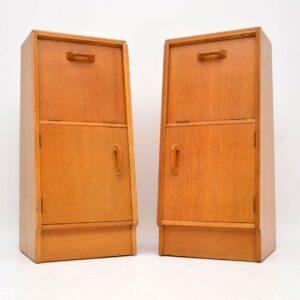pair of vintage retro oak bedside cabinets by g- plan brandon range