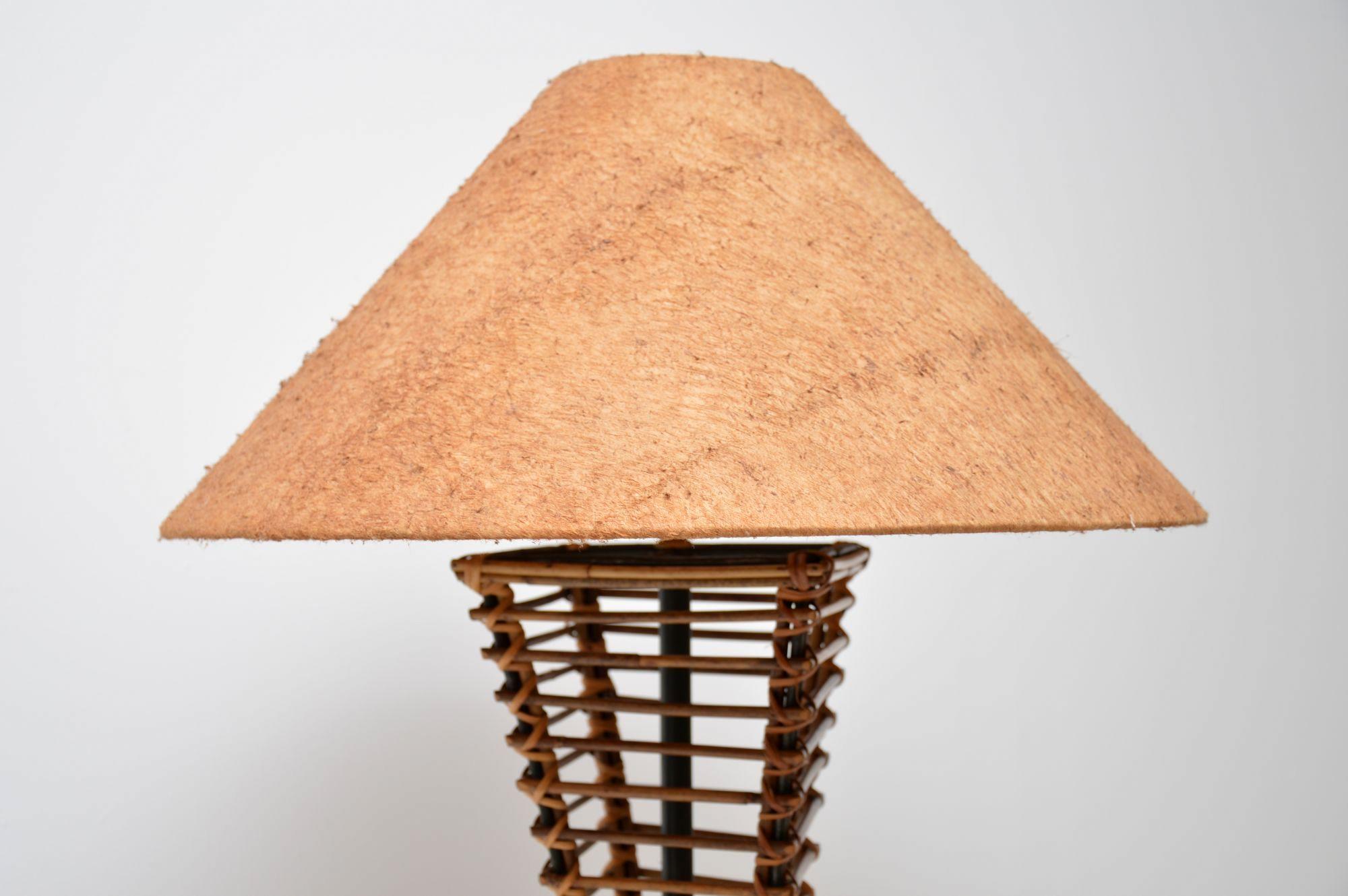 1970 S Vintage Bamboo Amp Suede Floor Lamp Retrospective Interiors Vintage