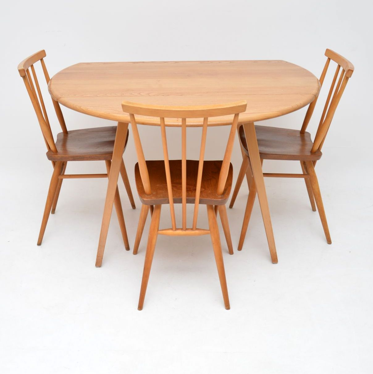 retro vintage ercol dining table chairs