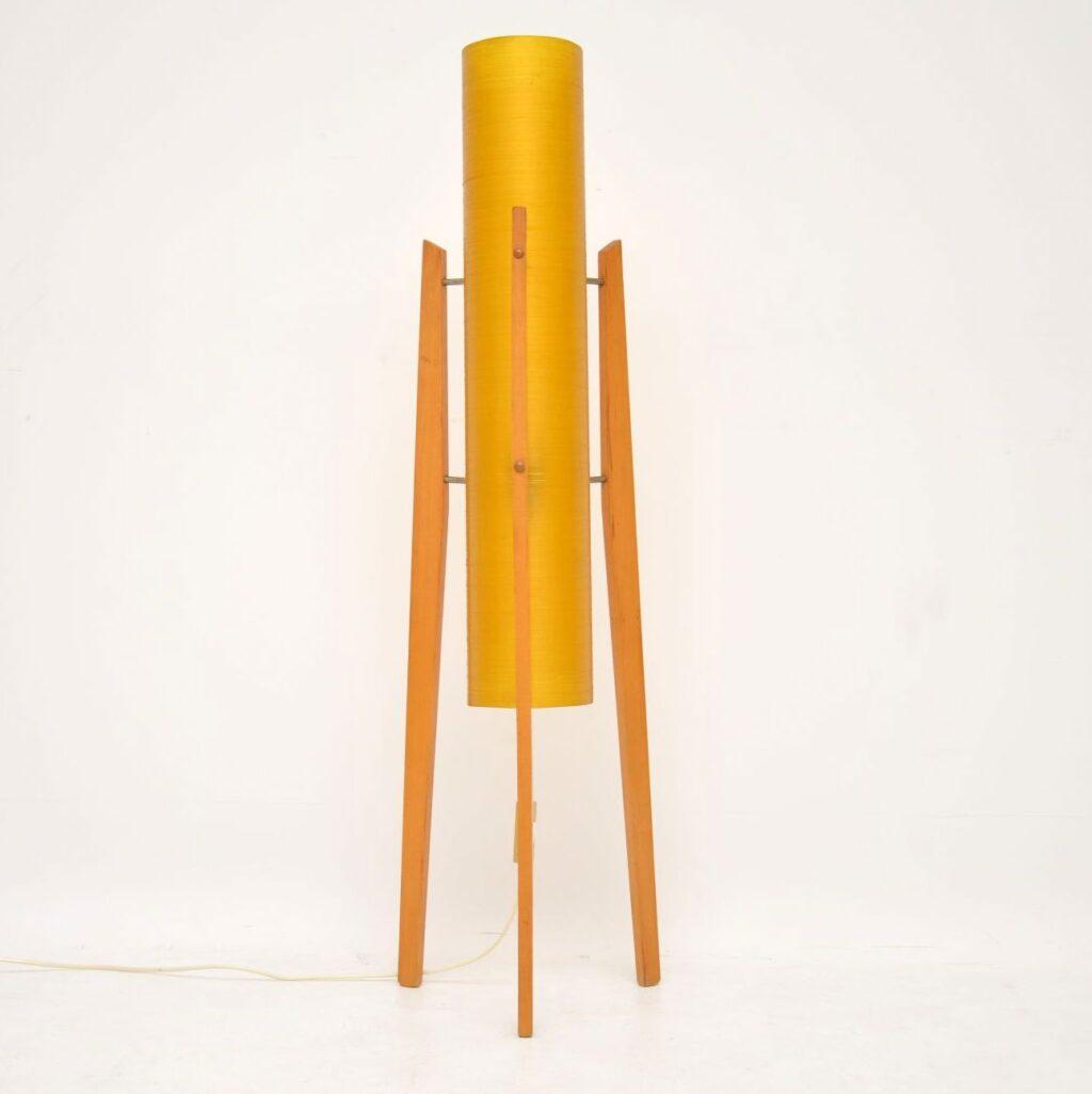 retro vintage fiberglass rocket lamp