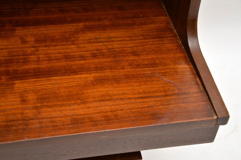retro vintage mahogany open bookcase g- plan