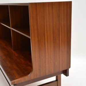 retro vintage mahogany open bookcase g- plan