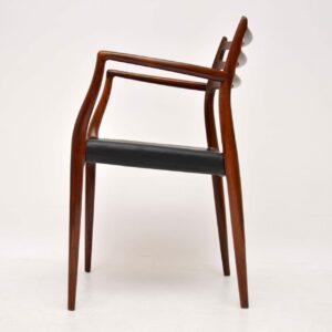 Set of 8 Danish Rosewood Model 78 Dining Chairs by Niels Moller