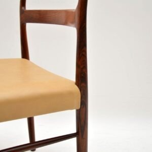 set of six danish rosewood leather dining chairs soren willasden