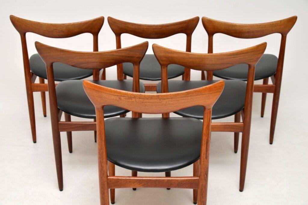 danish retro vintage dining chairs bramin