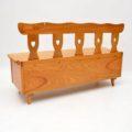 antique_vintage_retro_oak_elm_hall_chairs_bench_11