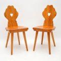 antique_vintage_retro_oak_elm_hall_chairs_bench_2