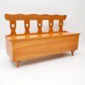 antique_vintage_retro_oak_elm_hall_chairs_bench_4