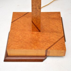 1920's Art Deco Birds Eye Maple & Walnut Lamp
