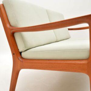 1960's Danish Teak Vintage 2 Seat Sofa by Ole Wanscher