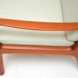 1960's Danish Teak Vintage 3 Seat Sofa by Ole Wanscher