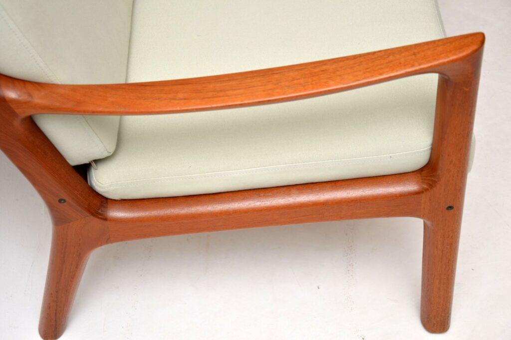 danish teak retro senator sofa by ole wanscher