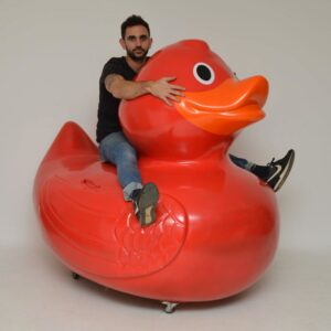 huge large rubber plastic fiberglass duck advertising