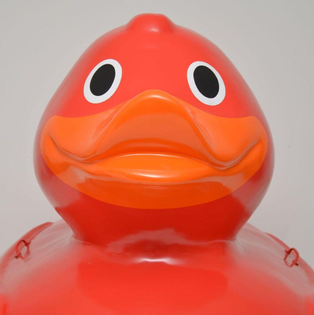 huge large rubber plastic fiberglass duck advertising
