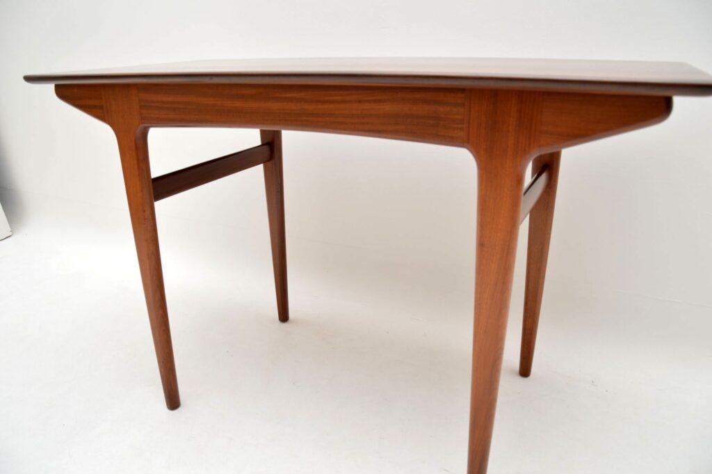 vintage retro afromosia desk dining table john herbert younger