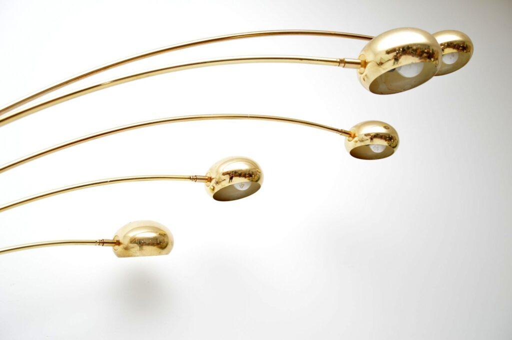 vintage retro italian brass marble lamp