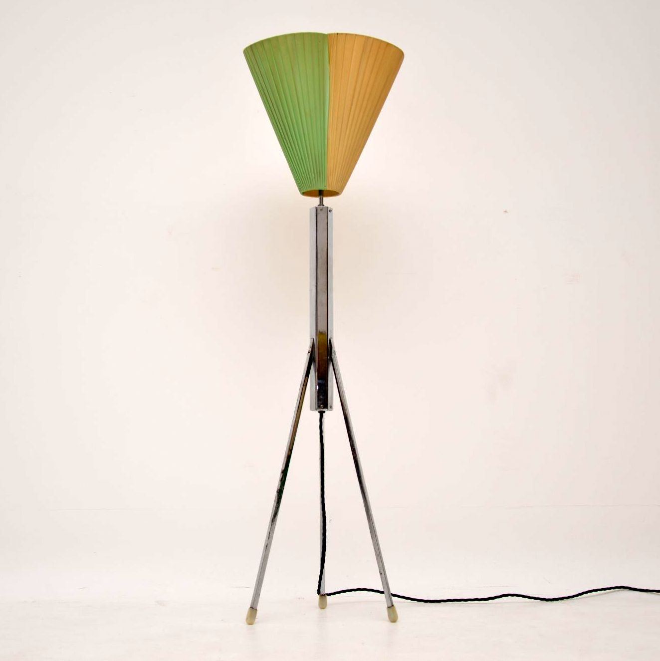 retro vintage chrome floor lamp
