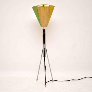 retro vintage chrome floor lamp