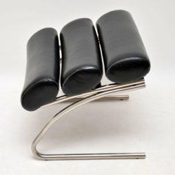retro vintage chrome stool