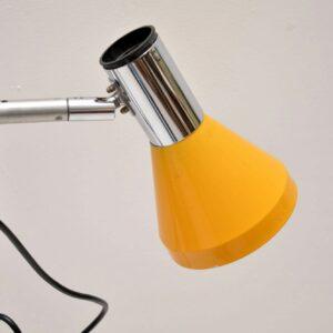 retro vintage chrome yellow lamp