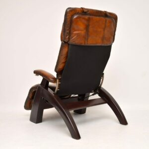 retro vintage leather reclining armchair the perfect chair