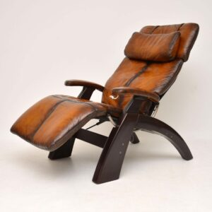 The Perfect Chair - Retro Leather Zero Gravity Reclining Armchair
