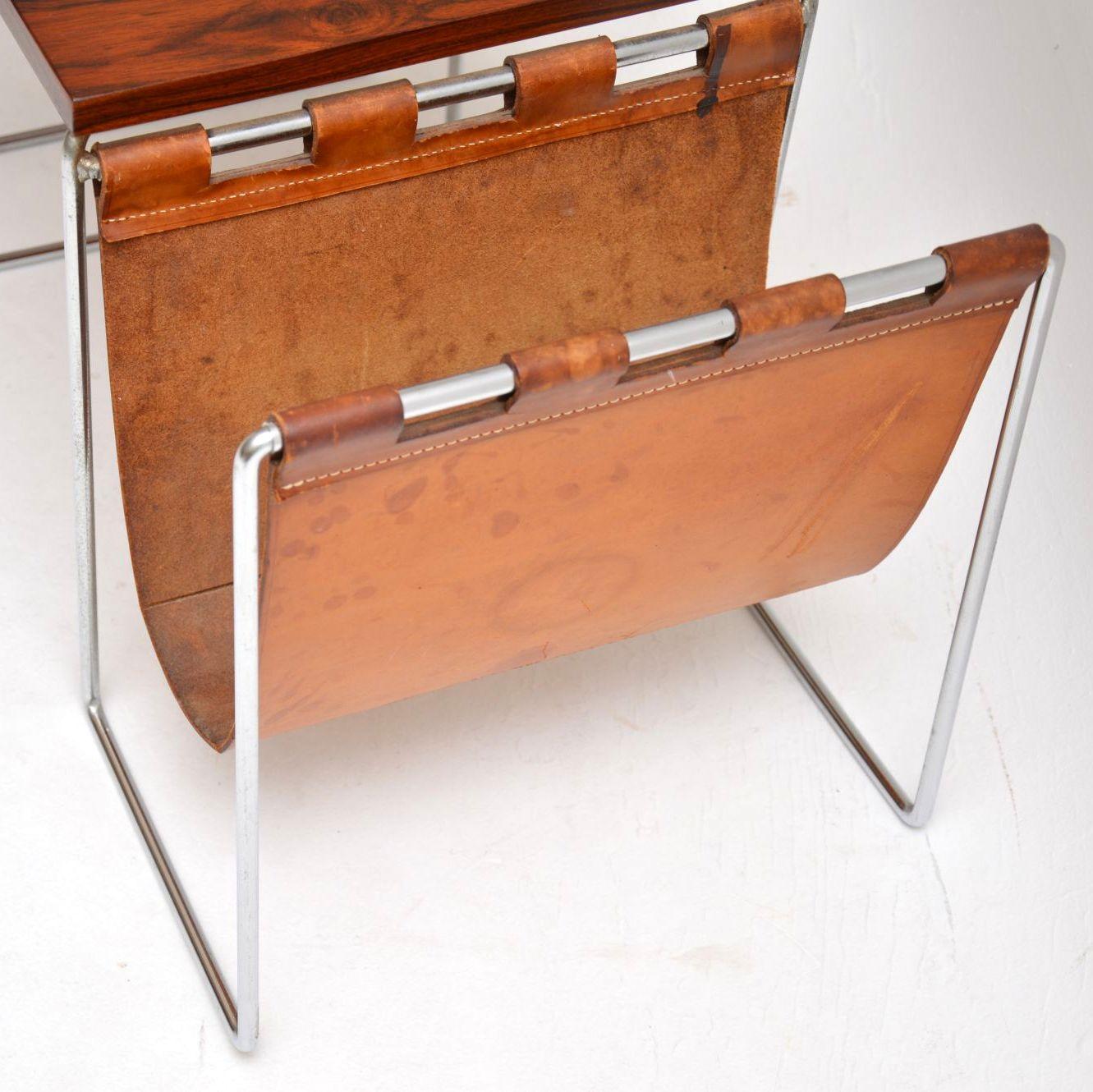 retro_vintage_rosewood_nest_of_tables_magazine_rack_brabantus_9