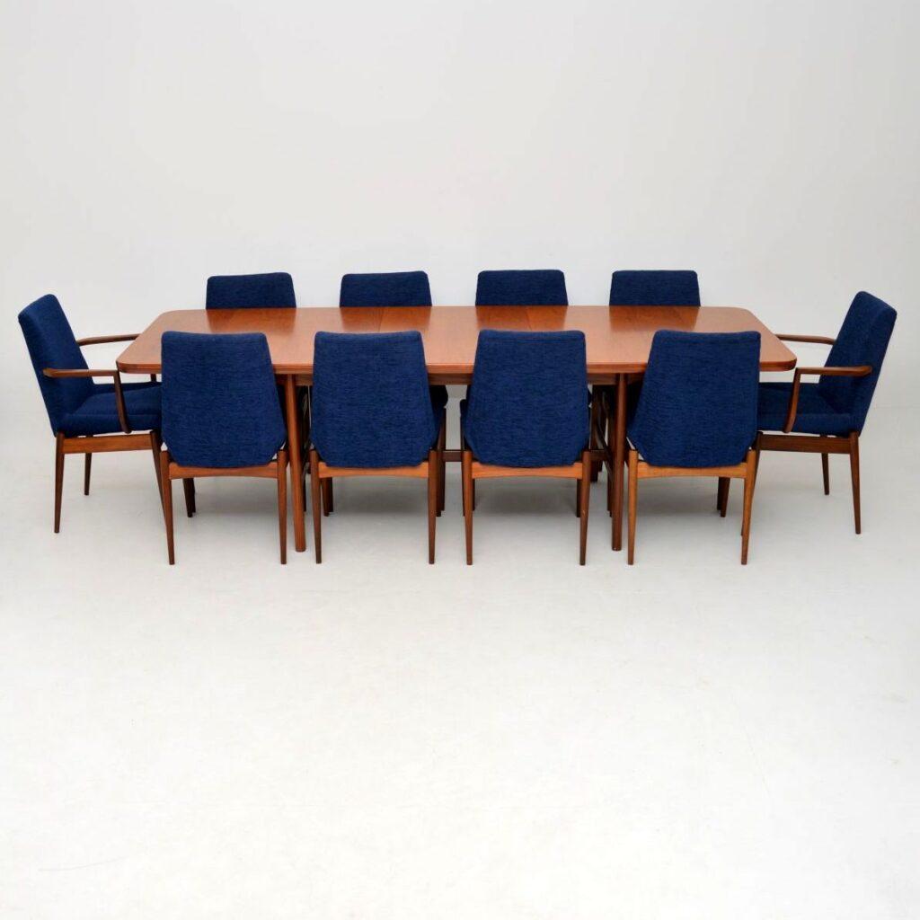 archie shine robert heritage teak dining table chairs retro vintage