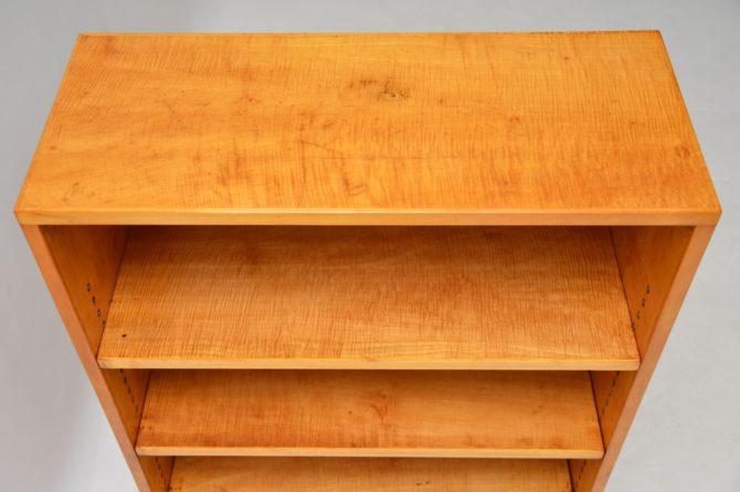art deco satin birch rosewood bookcase