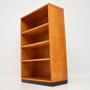 1920's Original Art Deco Bookcase in Satin Birch & Rosewood