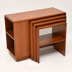 art deco walnut nest of tables nesting coffee table