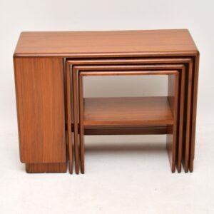 1930's Art Deco Walnut Nesting Coffee Table