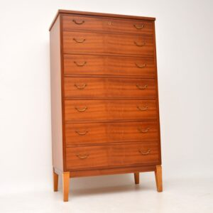 danish retro vintage tall boy chest of drawers ole wanscher